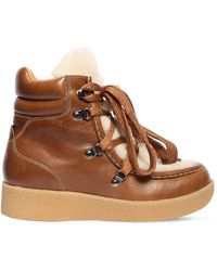 Isabel Marant ブラウン シアリング Alpica アンクル ブーツ