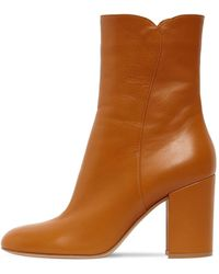 Gianvito Rossi 85mm Leather Ankle Boots - Brown