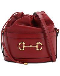 Gucci Сумка-ведро 1955 Horsebit - Красный