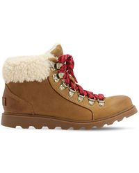 Sorel Ainsley Suede Conquest Boots - Brown