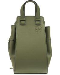 Loewe Mini Hammock Leather Bag - Green