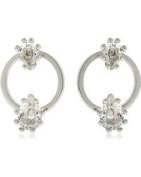 DSquared² - Jeweled Hoop Earrings - Lyst