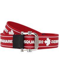 DSquared² Пояс Из Тесьмы С Логотипом 3,5мм - Красный