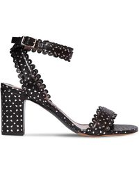 Tabitha Simmons Leticia Perforated Leather Sandal - Black