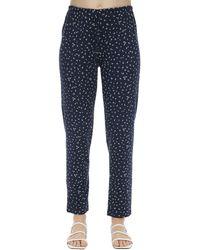 Eberjey Slim Bloom Printed Jersey Pyjama Bottoms - Blue