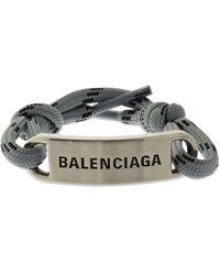 Balenciaga プレートブレスレット - グレー
