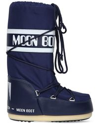 Moon Boot ウォータープルーフナイロンスノーブーツ - ブルー