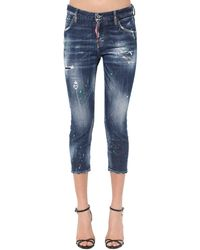 """DSquared² Jeans Cropped """"Cool Girl"""" In - Blu"""