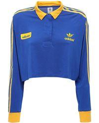 adidas Originals Polohemd Mit 3-streifen-logo Der 70er Jahre - Blau