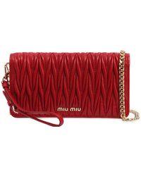 Miu Miu - Mini Quilted Leather Shoulder Bag - Lyst