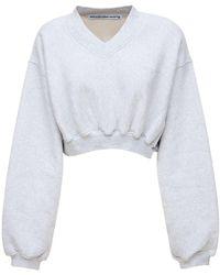 Alexander Wang コットンクロップドセーター - グレー