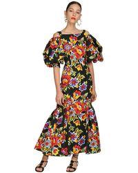 Carolina Herrera コットンファイユドレス - ブラック
