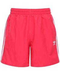 adidas Originals Badeshorts Mit 3 Streifen - Pink