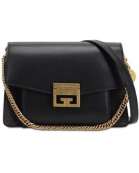 Givenchy Small Leather & Suede Gv3 - Black
