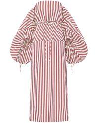 Rosie Assoulin コットンキャンバスドレス - レッド