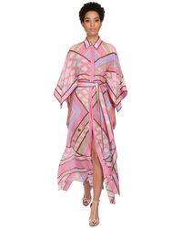 Emilio Pucci Printed Cotton Muslin Shirt Dress - Pink