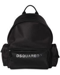 DSquared² Rucksack Aus Nylon Mit Logodruck - Schwarz
