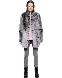 BLK DNM - Coat 18 In Reversible Shearling - Lyst