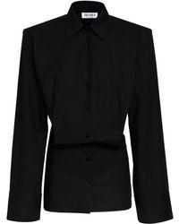 The Attico コットンキャンバスドレス - ブラック