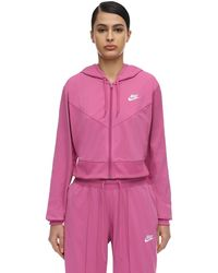 Nike Sweat-Shirt En Acétate À Capuche - Rose