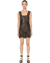 Paco Rabanne - Soft Plastic & Leather Discs Dress - Lyst