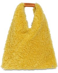 MM6 by Maison Martin Margiela Japanese Medium Faux Fur Bag - Yellow