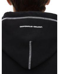 United Standard Reflex Cotton Blend Sweatshirt Hoodie - Black