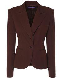 Ralph Lauren Collection Пиджак Из Шерстяного Габардина - Коричневый
