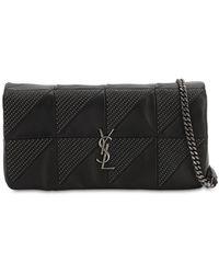Saint Laurent Jamie Baguette Micro Studded Leather Bag - Black