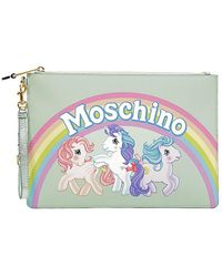 Moschino - Medium Little Pony Printed Pouch - Lyst