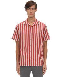 Lanvin Рубашка Из Хлопка Поплин - Красный