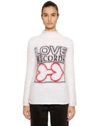 AALTO - Love Intarsia Mohair Blend Sweater - Lyst