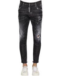 """DSquared² 16cm Jeans Aus Stretch-baumwolldenim """"skater"""" - Schwarz"""