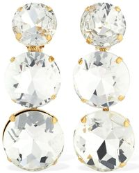 Ca&Lou Isabella Clip-on Earrings W/crystals - Mettallic