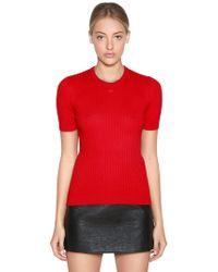 Courreges - Slim Cotton & Cashmere Knit Top - Lyst