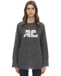 Courreges モヘア混 長袖セーター - グレー