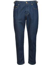Versace Jeans Couture Jeans In Denim Stretch 18cm - Blu
