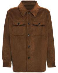 LC23 コットンコーデュロイオーバーシャツジャケット - ブラウン