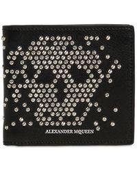 Alexander McQueen Lederbrieftasche Mit Nieten - Schwarz