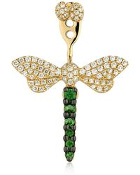 Yvonne Léon Libellule 18kt Gold Mono Earring - Metallic