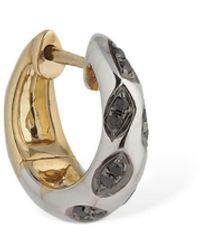 Yvonne Léon 9kt Creole Leo Hoop Mono Earring - Metallic
