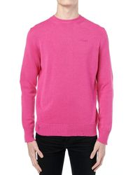 Amiri Maglia In Cashmere Destroyed & Repaired - Rosa