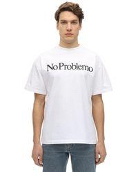 Aries No Problemo コットンジャージーtシャツ - ホワイト