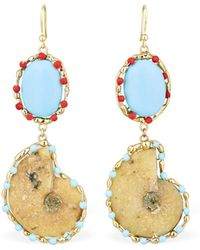 Rosantica Clip-on Earrings - Multicolour