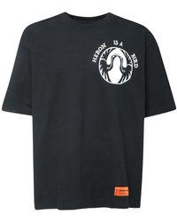 Heron Preston T-shirt Oversize In Jersey Di Cotone - Nero