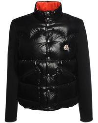 Moncler - Куртка На Пуху Из Нейлона И Трикотажа - Lyst