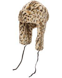 Kangol Шапка Из Искусственного Меха С Леопардовым Принтом - Естественный