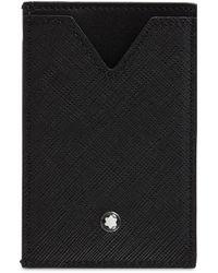 Montblanc レザーカードホルダー - ブラック