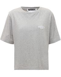 ROTATE BIRGER CHRISTENSEN Sunday Capsule Jersey Aster T-shirt - Grey