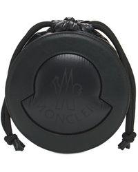 Moncler Groupie Leather & Nylon Laque' Bag - Black